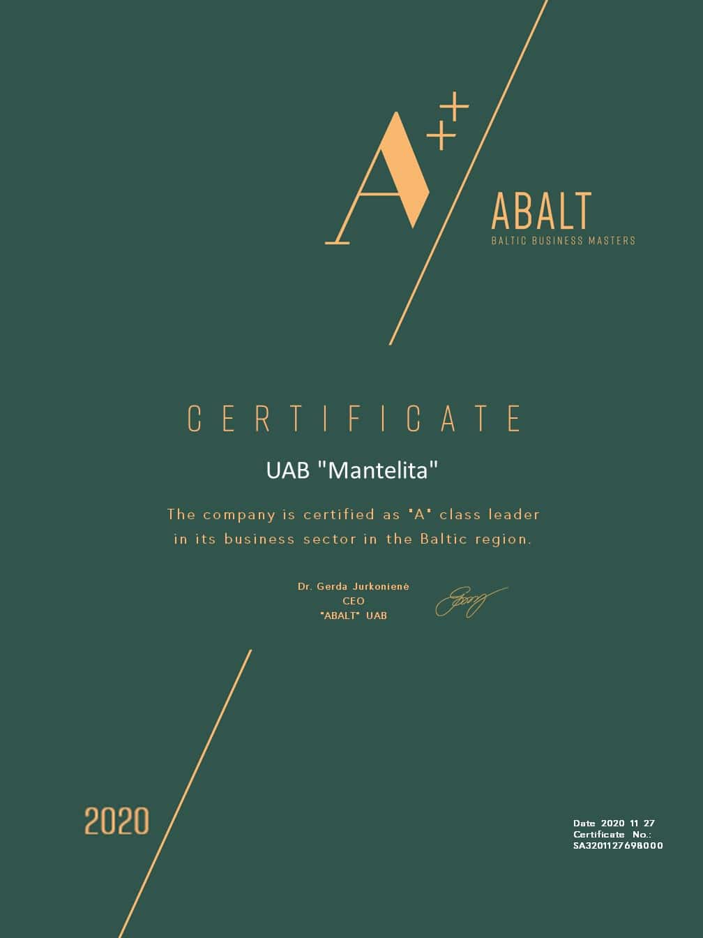 Abalt sertifikatas